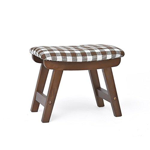 HTDZDX Fashionable Creative Stool, Walnut Stool, 38.525.529cm (Color : Walnut-Checker)