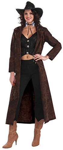 Costumes For Larger Women (Forum Novelties Women's Shotgun Shelly Cowgirl Costume, Brown, One Size)