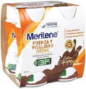 Meritene® FUERZA Y VITALIDAD - Suplementa tu nutrición y refuerza tu sistema inmune con vitaminas, minerales y proteínas - Bebida de Chocolate - ...