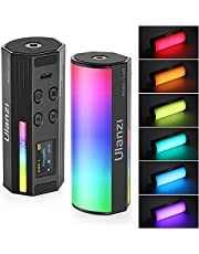 ULANZI Handheld Light Wand, 360° RGB LED Video Light for Photography, 2000mAh Rechargeable Mini Light Stick for Video Shooting, 2500-9000K Dimmable Camera Light w LCD, Support Magnetic Attraction