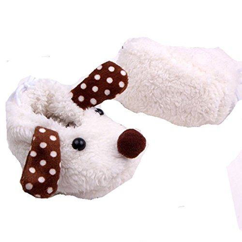 Weiße Hund Mädchen oder Jungen Baby Beute mit Braun und Weiß Dot Ohren