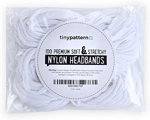 100 Premium Quality Nylon Headbands product image