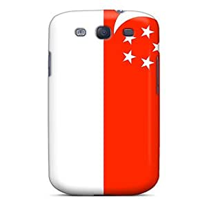 For Galaxy S3 Tpu Phone Case Cover(singapore Flag)