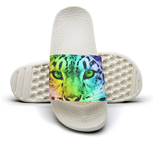 Colorful Cheetah Non-Slip Soft Foams Slipper Home Slide Sandals For Women by NUMOB
