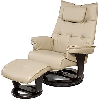 Relaxzen 60-051002 8-Motor Massage Recliner with Lumbar Heat and Ottoman, Cream