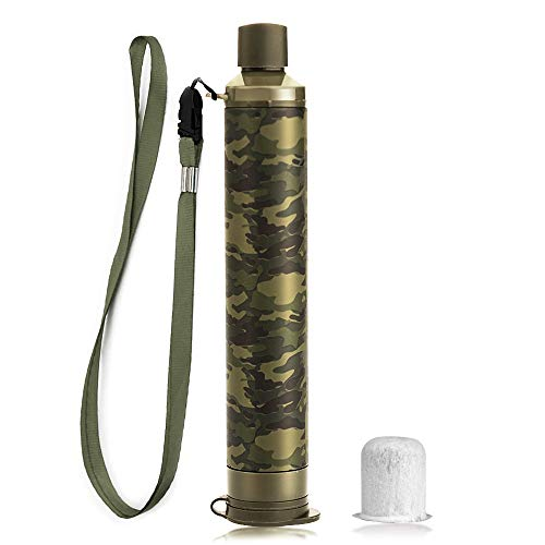 Membrane Solutions Portable Water Filter Straw Filtration Straw Purifier Survival Gear for Drinking, Hiking, Camping, Travel, and Emergency -