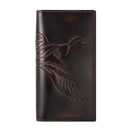 Duck Money Clip - HOJ Co. DUCK Tall Wallet-Premium Leather-Hand Burnished Mens Wallet-Hunter Gift
