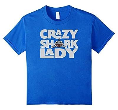 Shark T-shirt : Crazy Shark Lady Great Funny Shirt