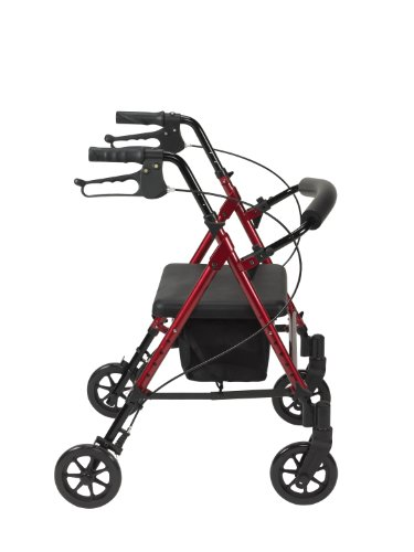 Drive Medical Adjustable Height Rollator with 6 Inches Wheels, Blue by Drive Medical (Image #1)