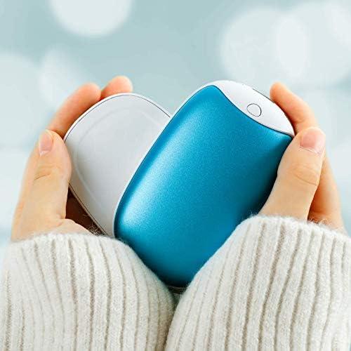 U-miss 充電式カイロ 電気カイロ 電気あんか 防寒グッズ 2台セット 日本語取扱説明書同梱 ハンドウォーマー 3階段温度調節 USB充電式 4時間以上連続発熱 軽量 エコ 省エネ 寒さ対策 ブルー