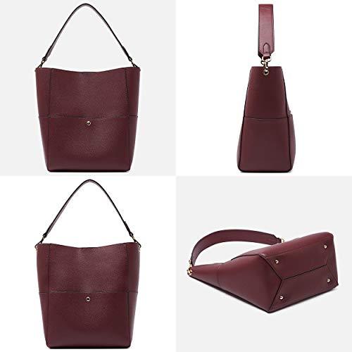 Sponsored BOYATU Women s Leather Handbags Shoulder Bags Vintage Bucket Bag  Hobo Purses e602ef53b8