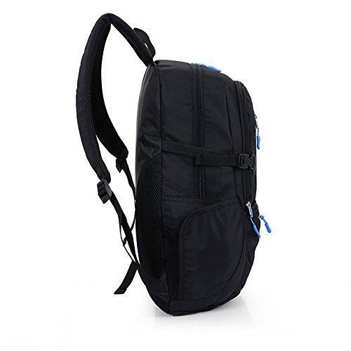 Outdoor Sport Rucksack Package Tour Klettern Taschen Freizeit Männer und Frauen Studenten Schultern Bmjf Paket, Schwarz