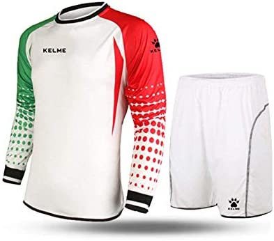 Kelme futbol portero de manga larga jersey de futbol Set traje ...