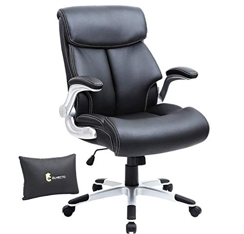 Ergonomic Office Chair,5 Years Warranty Weight Support 300 lbs,High Back Executive Chair with Thick Foam Cushion,Lumbar Support and Rocking Back,PU Leather Desk Chair for Height Under 5'11