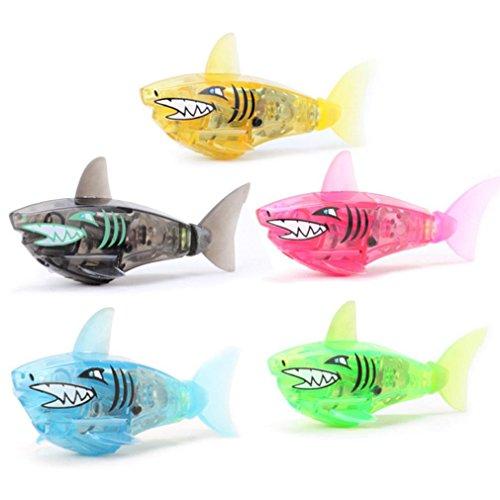 Fish Swim Sharks (Robotic Swimming Fish, Sacow Swimming Shark Toys Robotic Fish in Water Magical Electronic Toy Baby Kids Bath Toys)