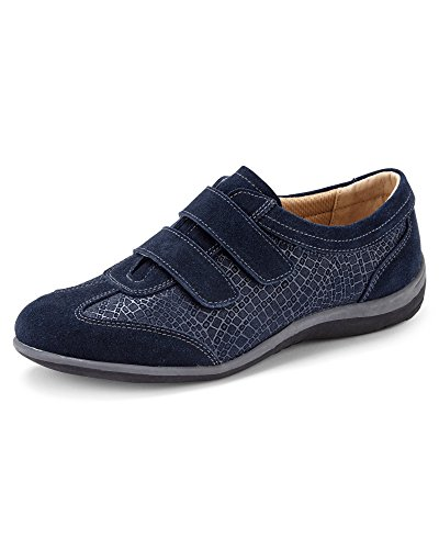 Cotton Traders Ladies Womens Leisure Flex Adjustable Shoes Cushioned Comfort E Fit Navy 8