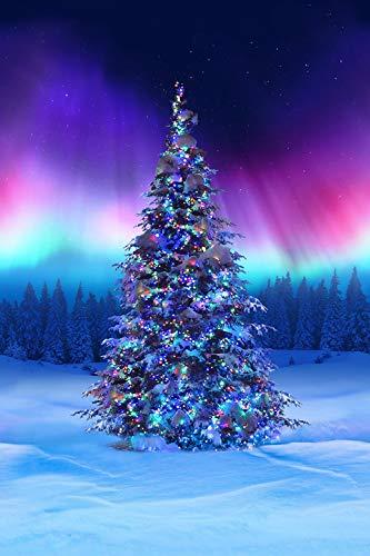 Borealis Christmas Tree Digital Panel from Hoffman Fabrics 100% Cotton Quilt Fabric P4366H-643-29