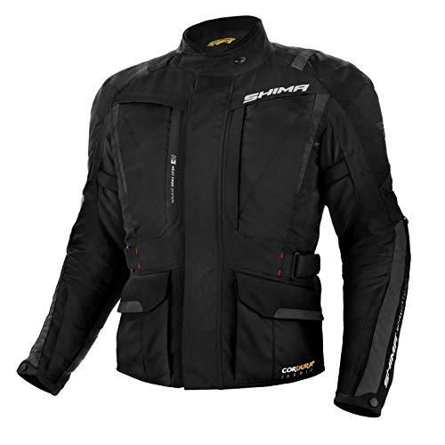 SHIMA Hero, Touring Motorcycle Jacket Cordura Hitena, (Black, ()