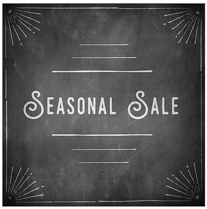Seasonal Sale Chalk Corner Window Cling 16x16 5-Pack CGSignLab
