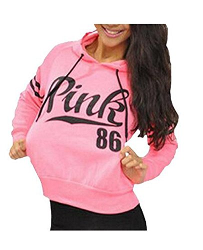 Womens Chic Drawstring Long Sleeve Hooded Sweatshirt