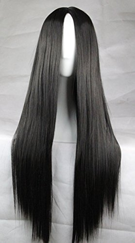 Straight Black Bangs Resistant Cosplay product image