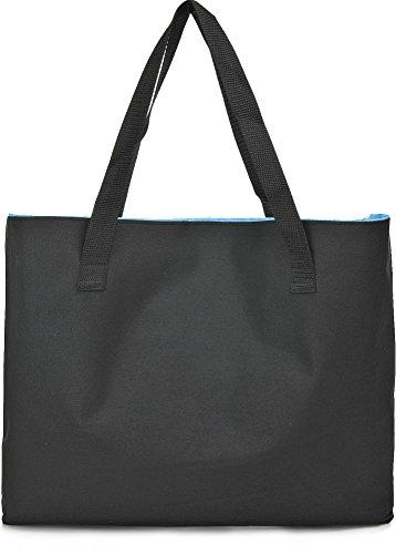 Aufblasbarer Shopper, Beach Bag, Strandkissen & Tasche in einem, Strandtasche, Kopfkissen - für Strand, Urlaub, Festival Camping, Reisen, Garten, 43 x 32 x 1 cm (B x H x T)