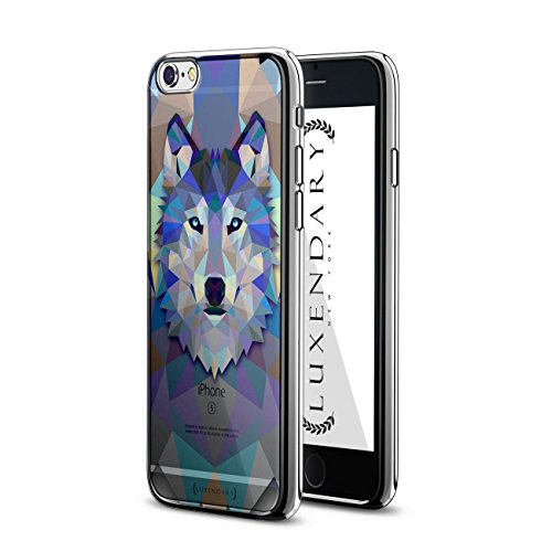 - Luxendary LUX-I6CRM-WOLF2 Diamond Wolf Design Chrome Series Case for iPhone 6/6S