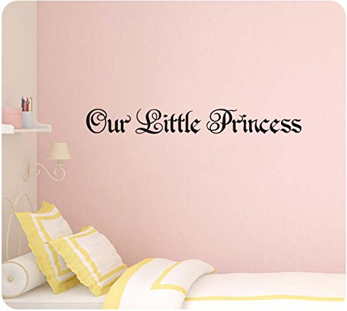 36 Our Little Princess Baby Girl Royal Nursery Room Gift Wall Decal