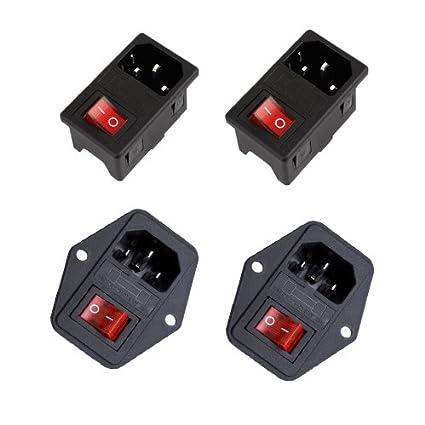 amazon com gadgeter 4 pcs inlet module plug fuse switch male power rh amazon com