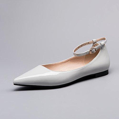 Bouche Chaussures Style WENJUN Profonde All Britannique Chaussures Peu Chaussures Avec Astuce Coule Professionnelles Chaussures Confortables Lanugo Pour Seules Chaussures match Épais Femmes Peinture YZdqZw