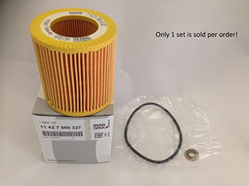 BMW (11 42 7 566 327) Oil Filter Element Set 1999 Bmw 318ti Oil