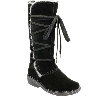 Avington Women's W Clarks Suede US Up Hayes Boot Combination Lace Black Cow 8 qHd75Swdxr