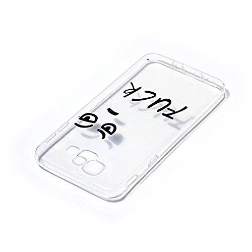 CaseHome Samsung Galaxy J5 Prime gel de Silicona TPU Funda (Con Gratis Lápiz táctil) Guay ModaVistosoPatrónDiseñoCristalClaro Ultra FinoTransparenteEncaja PerfectoFlexibleSuaveCauchoParacho Gracioso Diseño