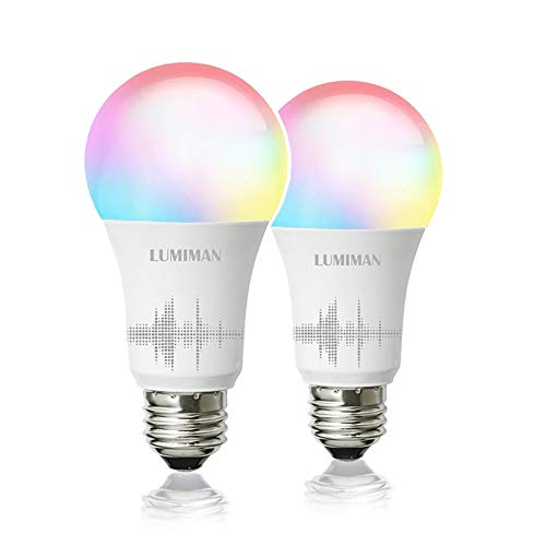 Smart WiFi Light Bulb, LED RGBCW Color Changing, Compatible with Alexa and Google Home Assistant, No Hub Required, A19…