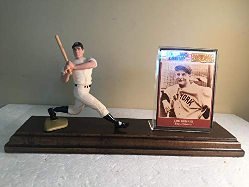 Lou Gehrig New York Yankees Starting Lineup Figure Custom Made Wood Plaque ()