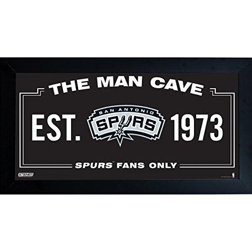NBA San Antonio Spurs Man Cave Sign 10 x 20 Framed Photo