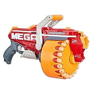 NERF MEGA - Megalodon Blaster inc 20 Official Mega Whistler Darts - Kids Toys & Outdoor Games - Ages 8+