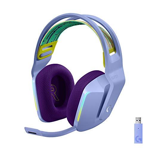 Logitech G Auriculares con Micrófono Inalámbricos Logitech G733 para Gaming con Diadema con Suspensión, Lightspeed, RGB…