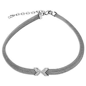 Skagen Women's Silver Domed Mesh Necklace JNS0015