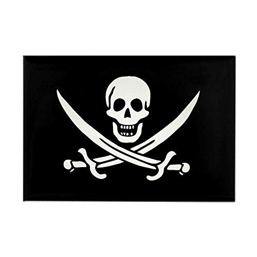 (CafePress Calico Jack Rackham Pirate Flag Rectangle Magnet Rectangle Magnet, 2