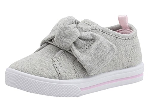 Carter's Girls' Alethia Bow Slip-on Sneaker, Grey, 5 M US Toddler by Carter's