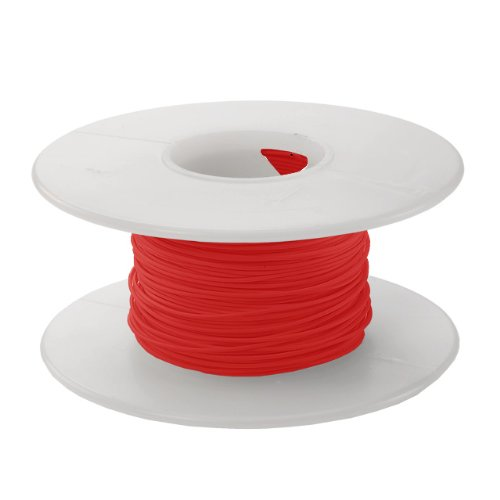 Jonard R24R-0100 Kynar Insulated Silver Plated Copper Wire, 24 AWG Wire Size, 0.030'' Insulation Diameter, 100' Length, Red