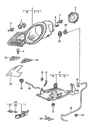 Headlamp Connector Housing Wiring Harness Porsche 986 Boxster 993