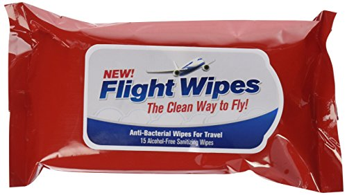 Flight Wipes, Anti-Bacterial Wipes for Travel Way to Fly! Pack of 6, 90 Total Wipes, Perfect for Bathing Baby...