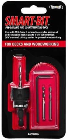 #10 Smart-Bit Pre-Drilling und Countersinking Tool für Decks und Woodworking (Item # Bda146)