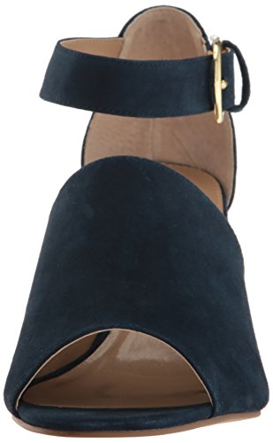 Adrienne Vittadini Footwear Women's Ranta Wedge Sandal Navy TjgkCv6Sla