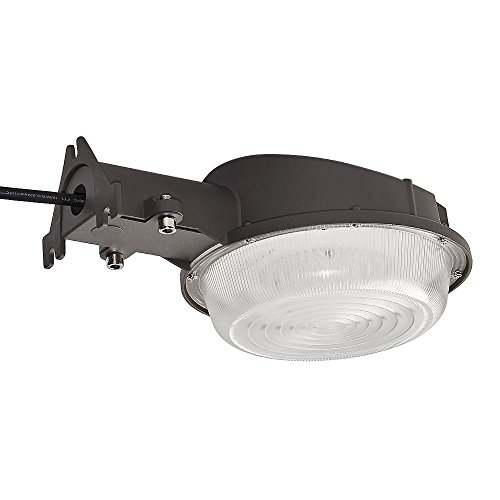 KCCCT Dusk-to-Dawn LED Outdoor Yard Light Barn Light Photocell Included 5000K Daylight Security Flood Lighting Die Cast Aluminum Waterproof UL Listed (35w Wall Mounted)