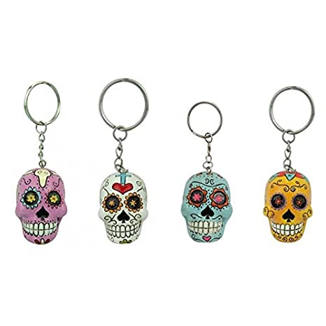 half off cheap buy Candy Skull Porte-clés – Violet