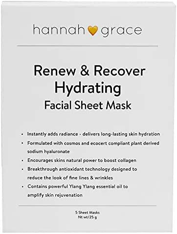 HG skincare renewing moisturizer sheet mask. Significantly reduces wrinkles & fine lines. Visibly plumps and refreshes for a healthy, naturally vibrant glow-5x face mask