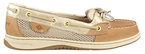 Sperry Top-Sider Women's Angelfish Boat Shoe, Metallic Platinum, 6 M US